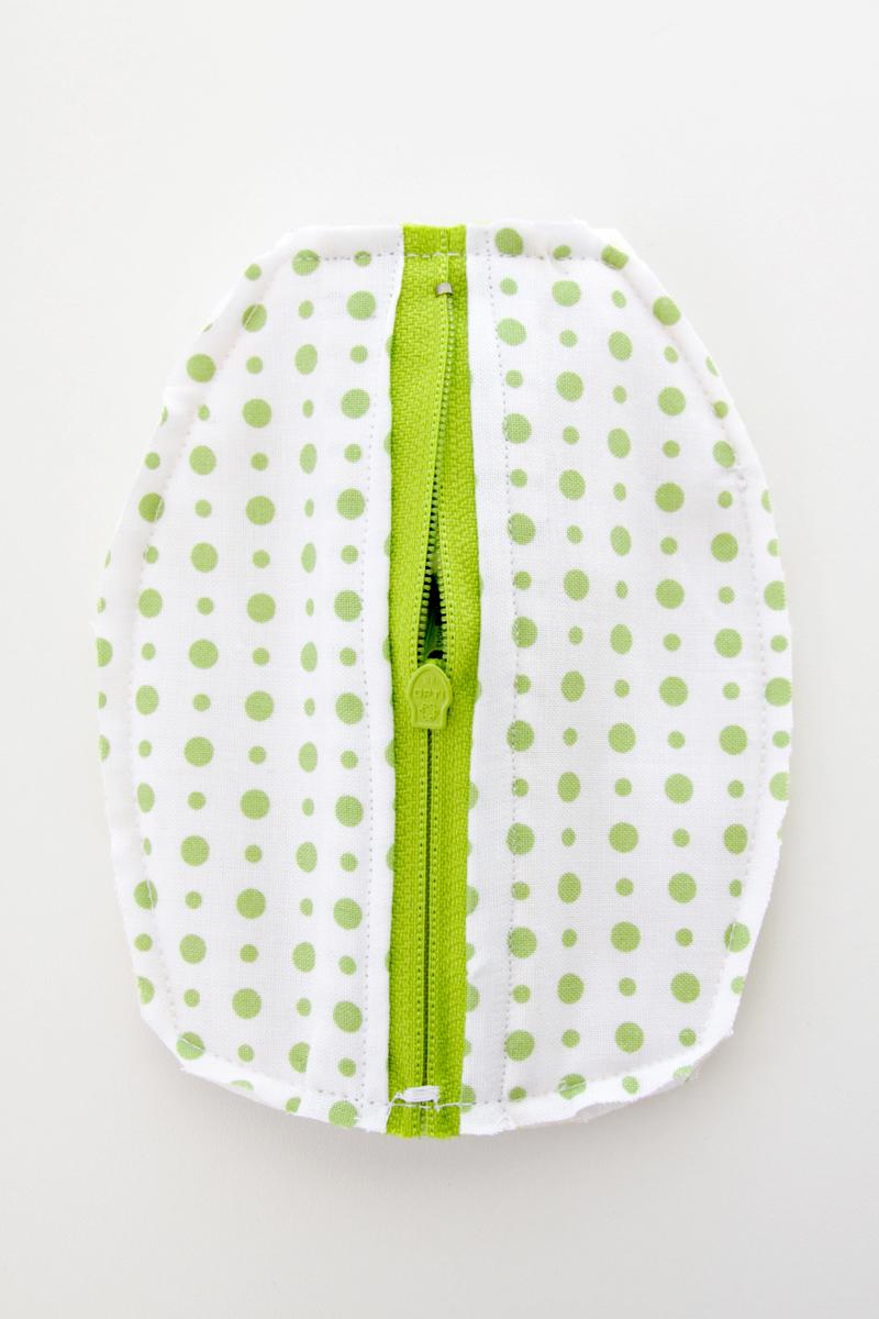 Trim Edges of zipper pouch