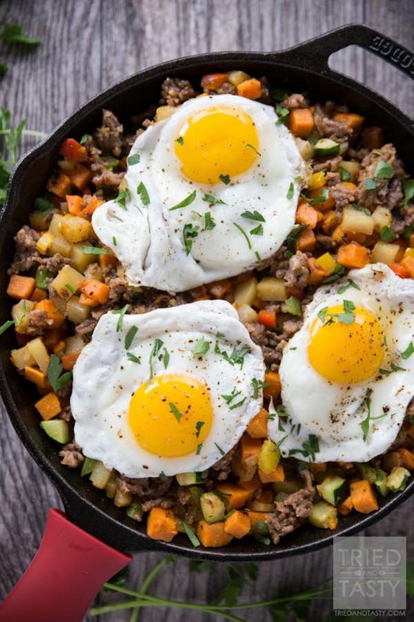 Sweet Potato Sausage Breakfast Hash