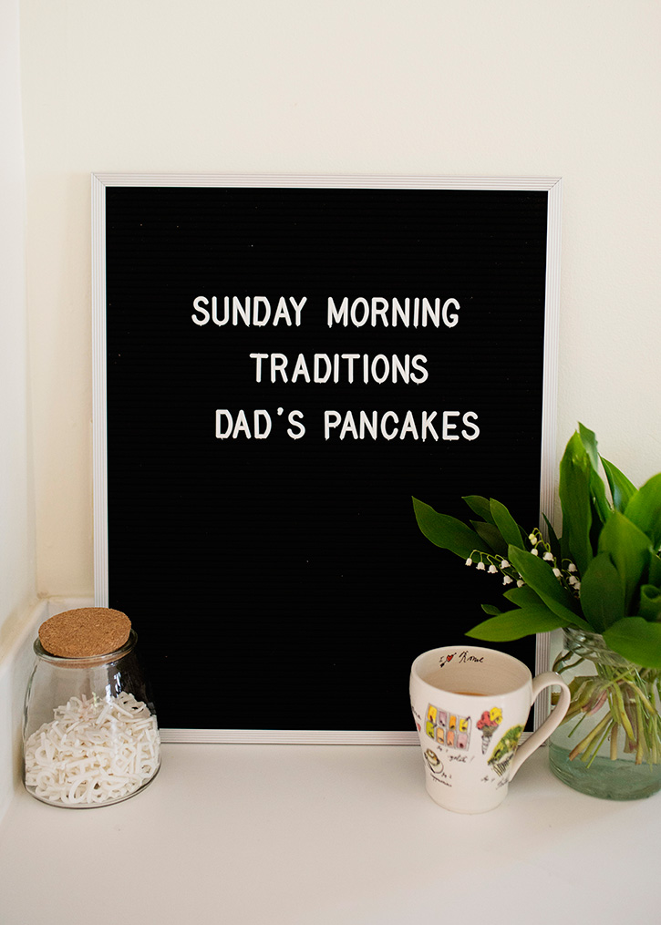 sunday morning traditions: dads pancakes