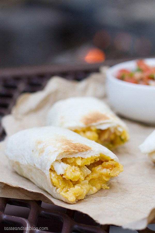 Campfire Breakfast Burritoes