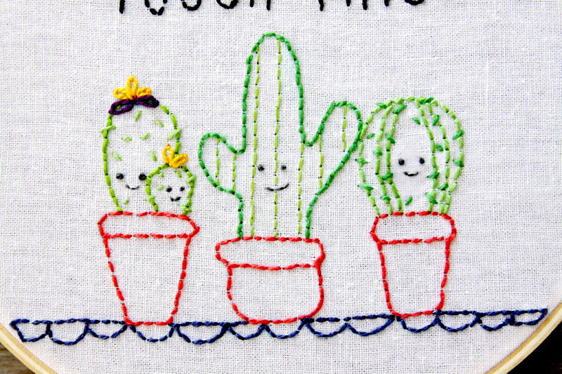 Easy And Cute Cactus Embroidery Hoop Art