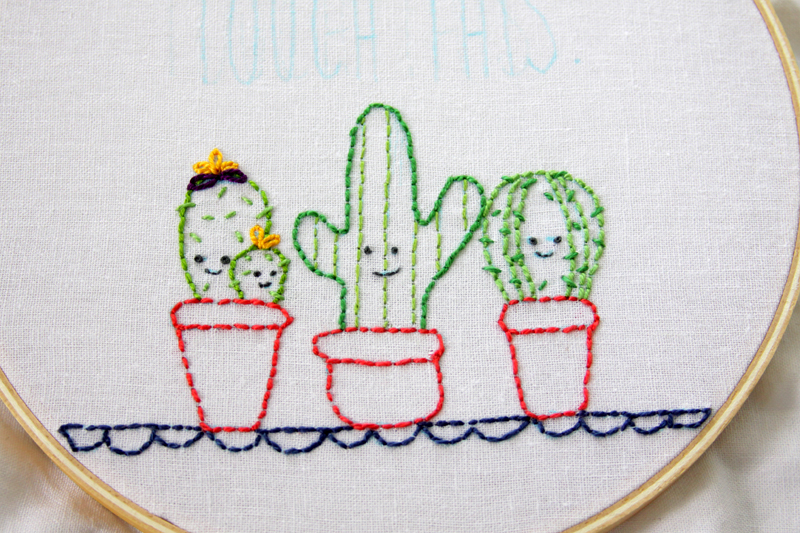 Easy and Cute Cactus Embroidery Hoop Art Cute Embroidery