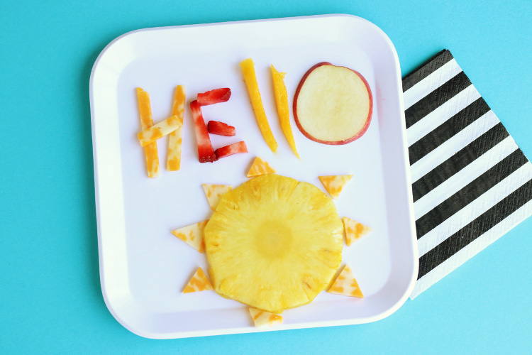 Sometimes it's ok to play with your food! Find more inspiration for having fun with food this Summer!