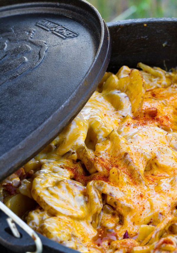 Cheesy Dutch Oven Potatoes