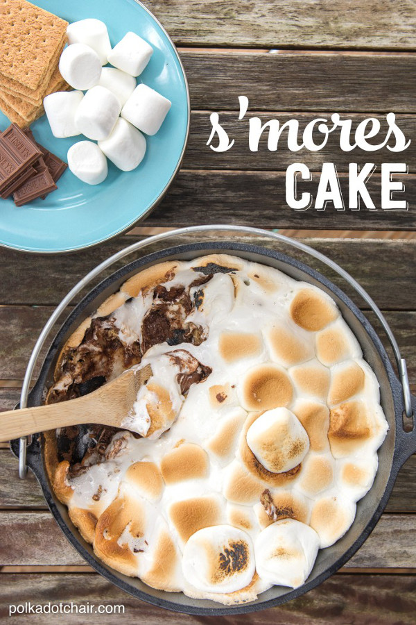 Dutch Oven S'mores Cake
