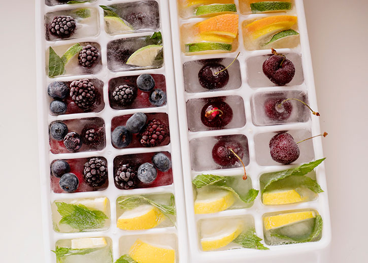 how to make fruit ice cubes