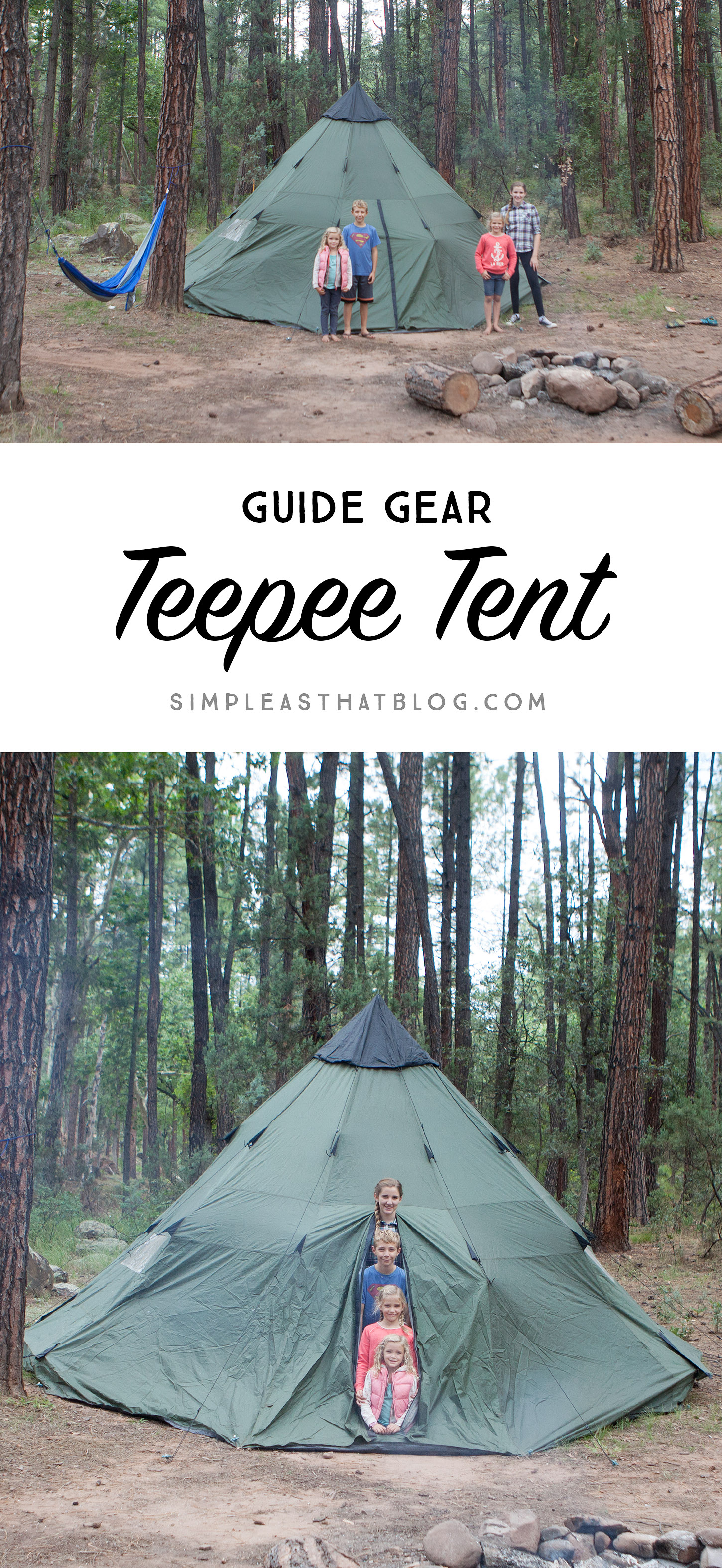Guide Gear Teepee Tent // Essential Outdoor Family Adventure Gear