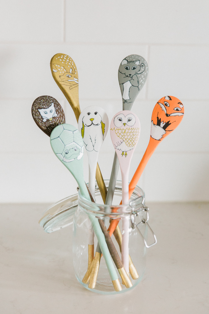 Woodland creatures spoon puppets for Cheap wooden spoons for crafts