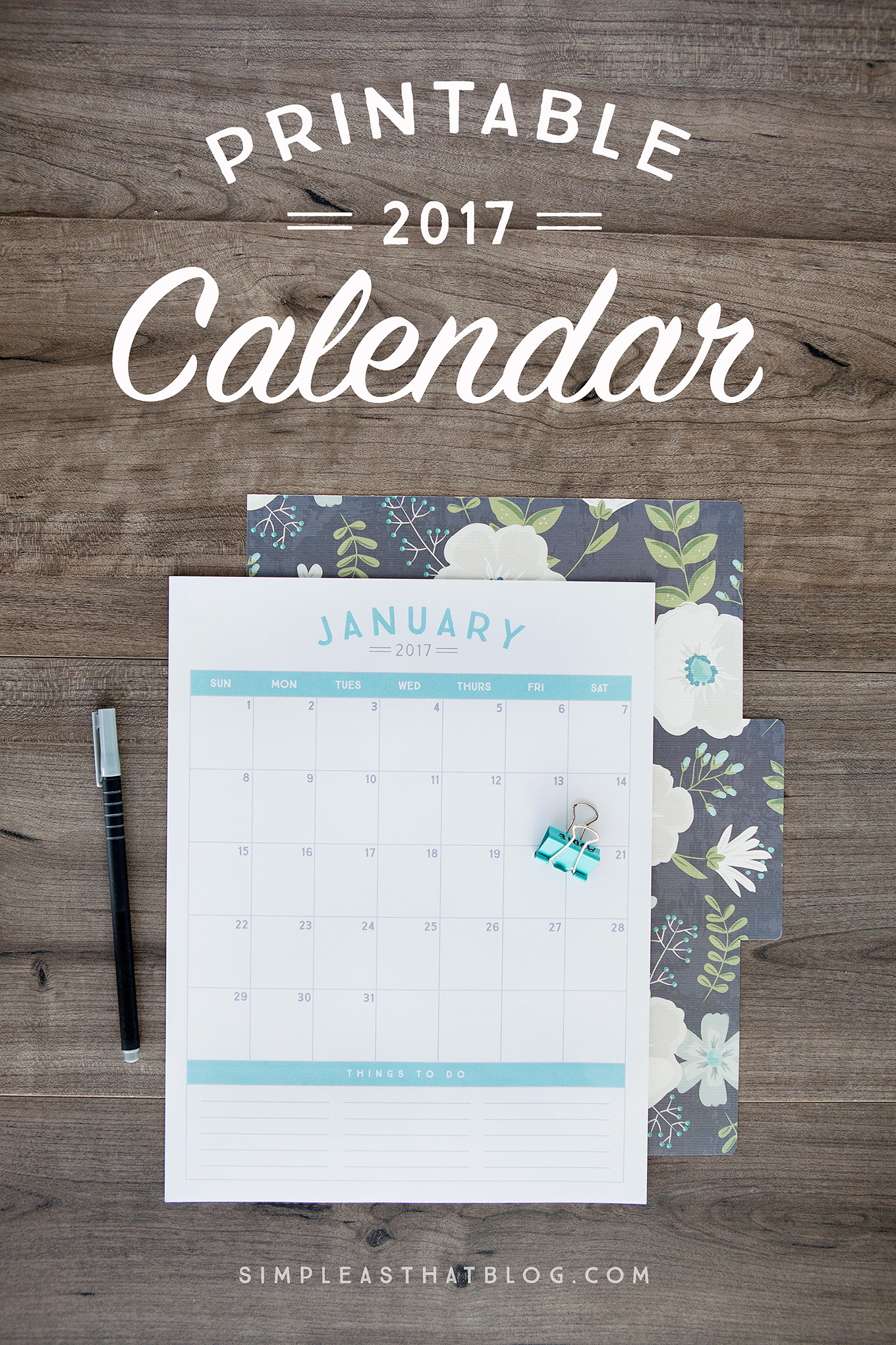 get organized in the new year with these 2017 printable calendars available in 6 gorgeous