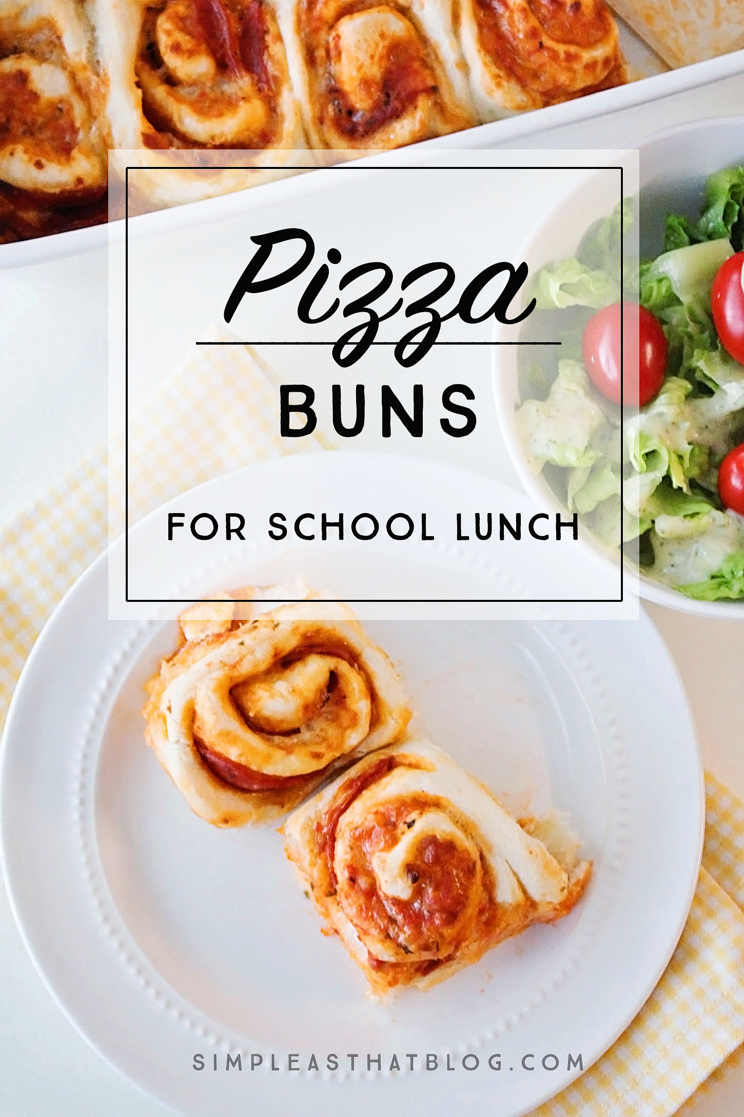 Easy to make, homemade pizza buns make a perfect addition to your child's school…