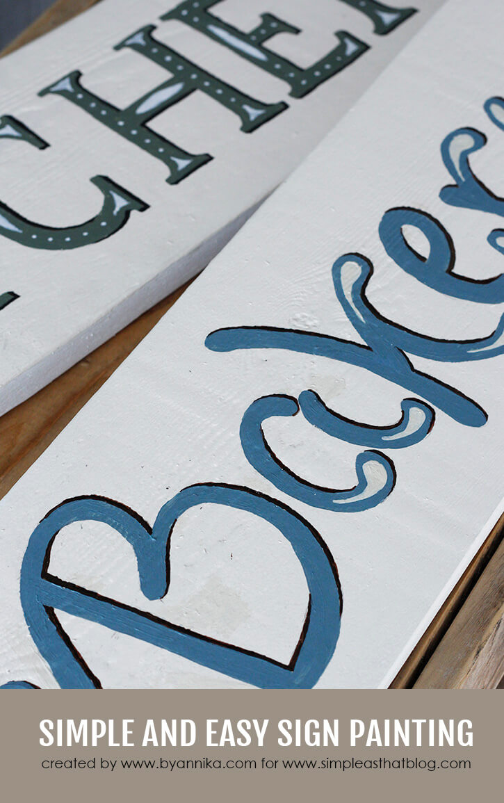 Simple and easy sign painting tutorial