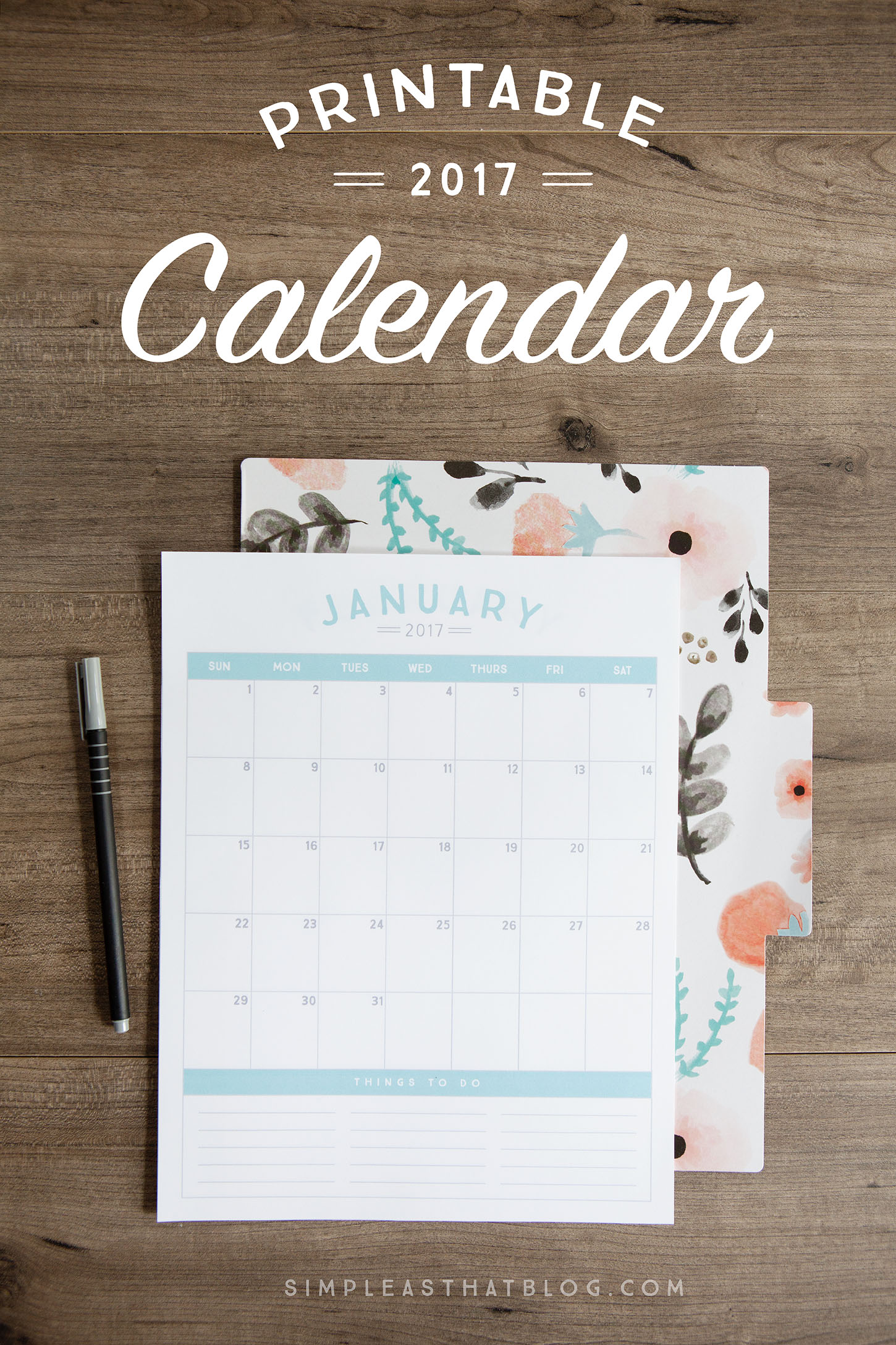 photo about Printables Blog identified as 23 Free of charge 2017 Calendar Printables Mother Spark - Mother Blogger