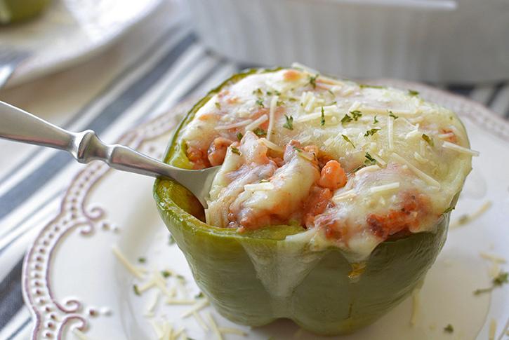 Cheesy Stuffed Green Peppers