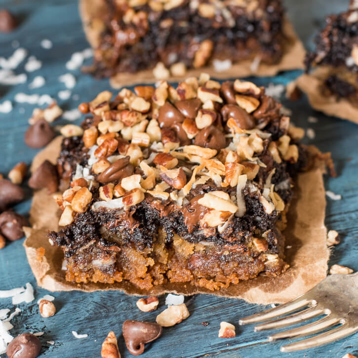 Chocolate Coconut Cookie Bars