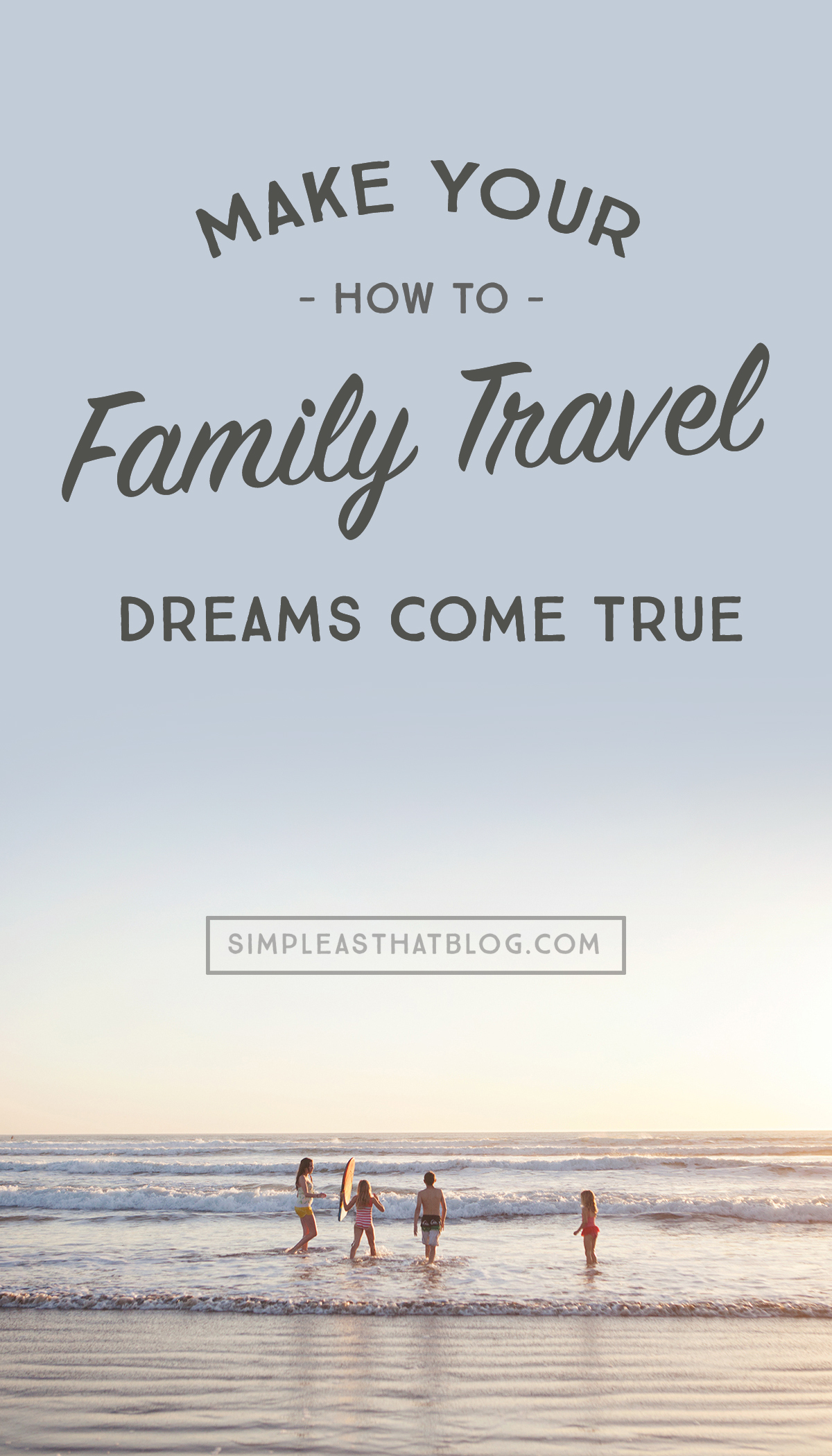 "Have you ever seen a friend's travel photos on Facebook and thought, ""I WISH we could afford to travel..."" 4 tips to make your family travel dreams happen, even while right in the middle of education and family raising."