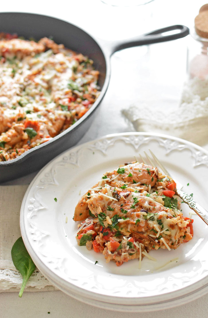 Tired of battling picky eaters at the dinner table? Rustic Italian One-Pot Chicken and Rice sneaks good nutrition into yummy, cheesy, familiar flavors!