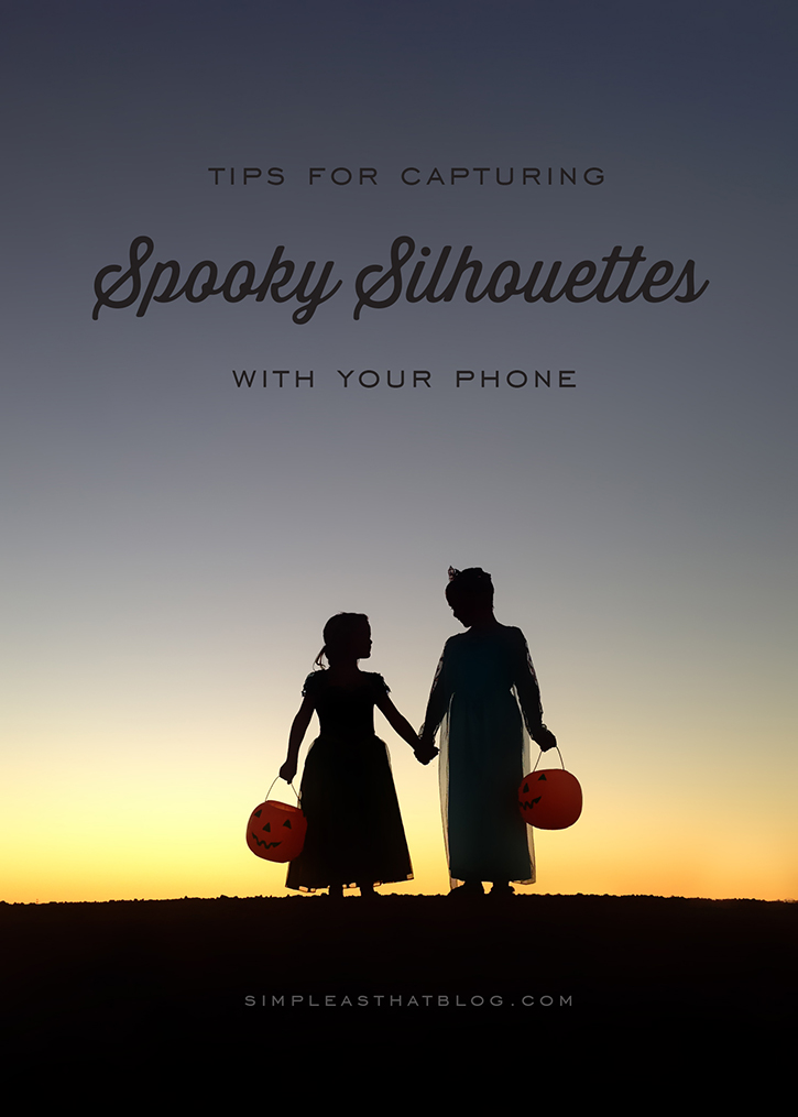 There are so many fun moments to capture at Halloween, why not try your hand at a spooky silhouette? It's easier than you think, using nothing but your phone!