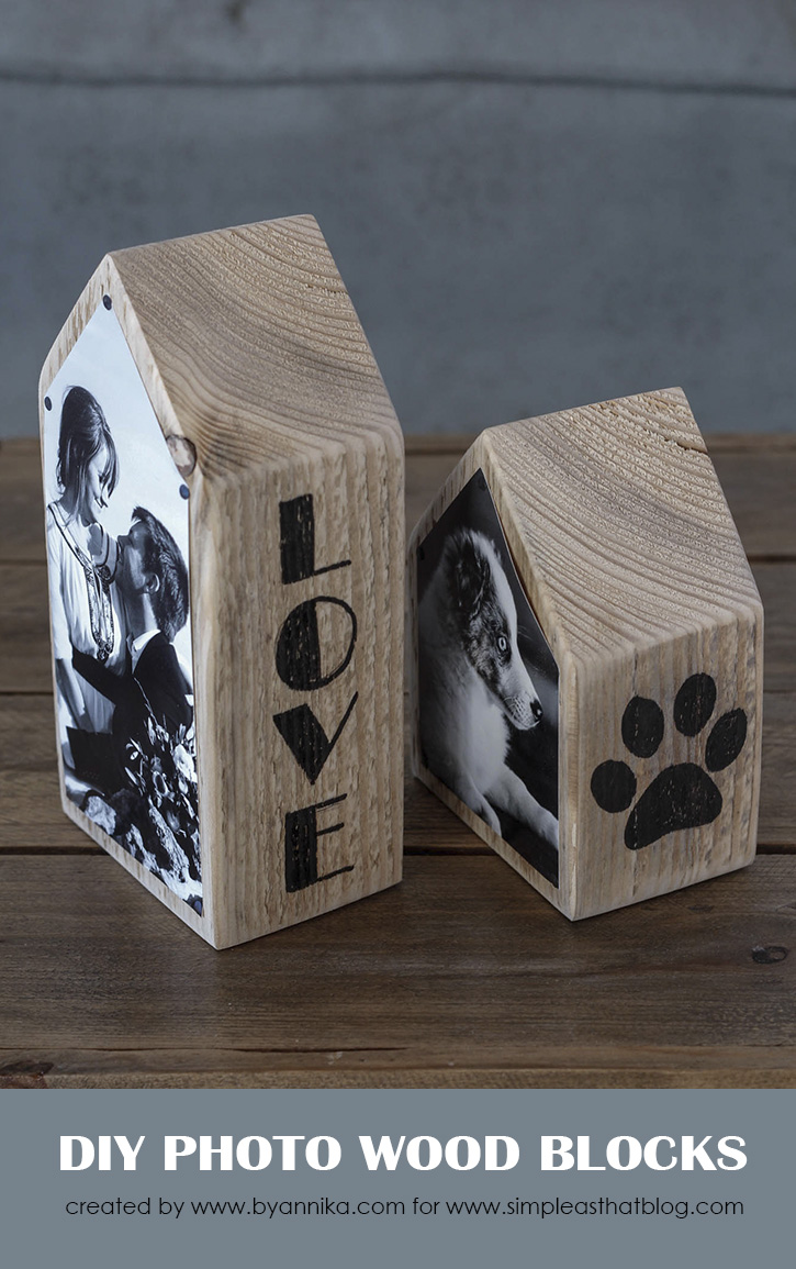 Create your own rustic photo displays using recycled wood and a handful of favorite family photos.
