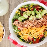 Southwest BBQ Chicken Salad with Creamy Lime-Cilantro Dressing