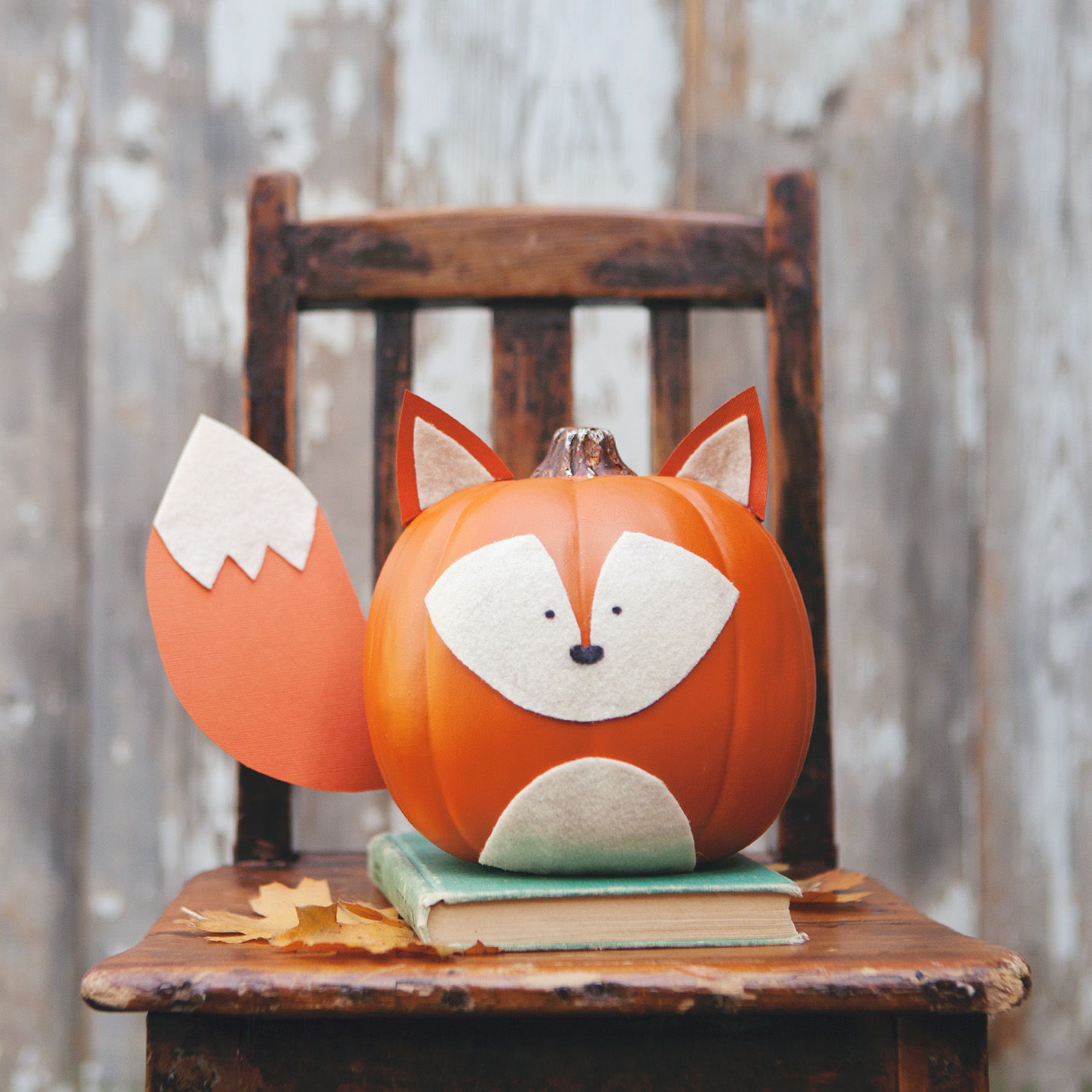 Woodland creature no carve pumpkins - Pumpkin decorating ideas autumnal decor ...