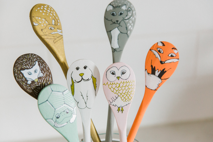 Woodland Creature Wooden Spoon Puppets