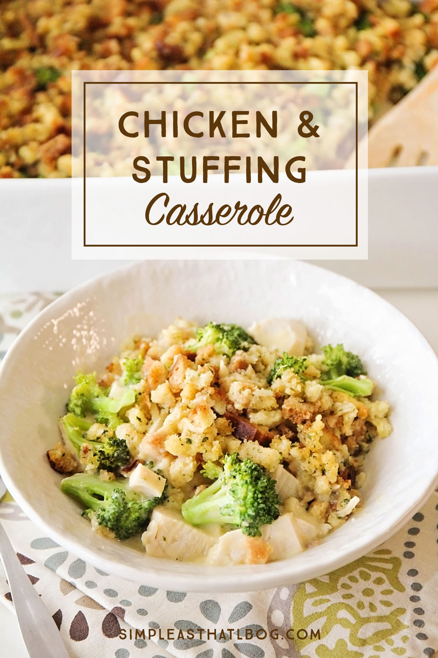 This creamy and cheesy casserole is comfort food at it's best and it's so easy to throw together!