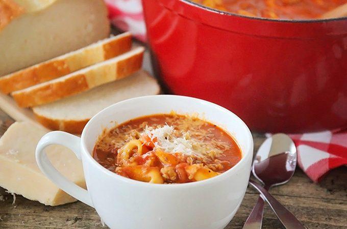 Quick and Easy Tomato Tortellini Soup Recipe