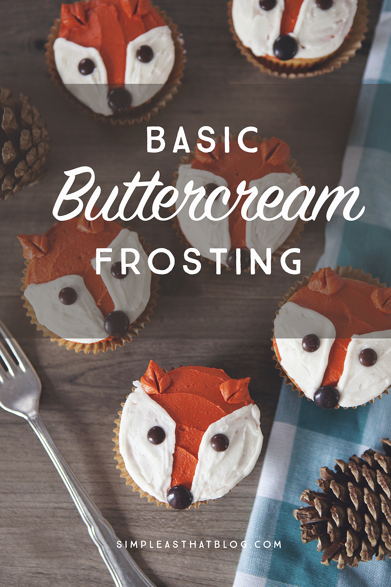 This Basic Buttercream Frosting Recipe is the only frosting recipe you'll ever need! It's light, fluffy and turns out perfectly every time!