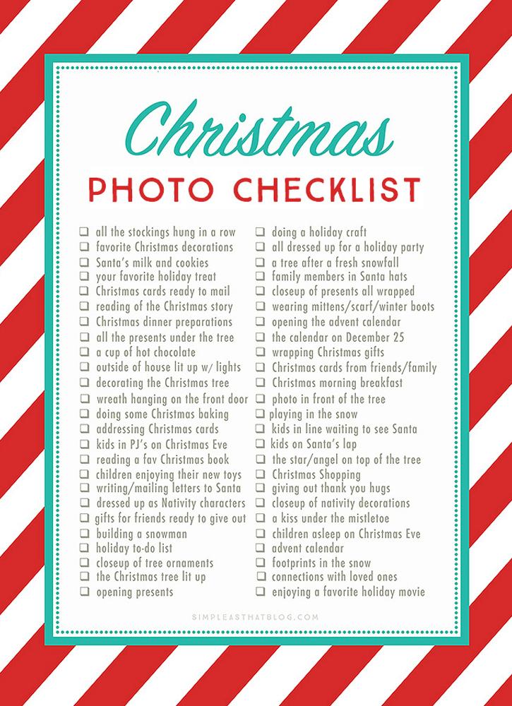 Free Christmas Photos Checklist