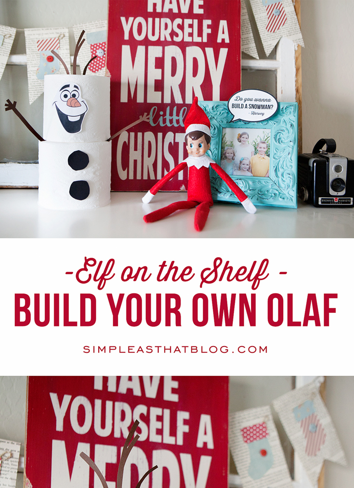 Free Elf on the Shelf Olaf Printable