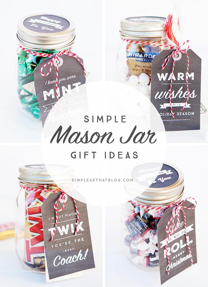 Free Simple Mason Jar Printable Tags