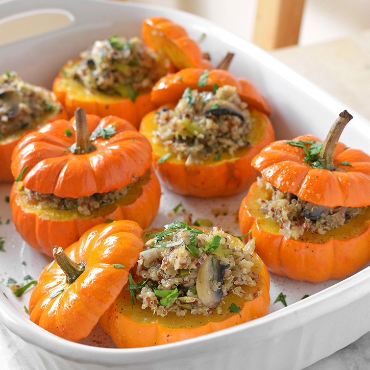 Savory Stuffed Mini Pumpkins