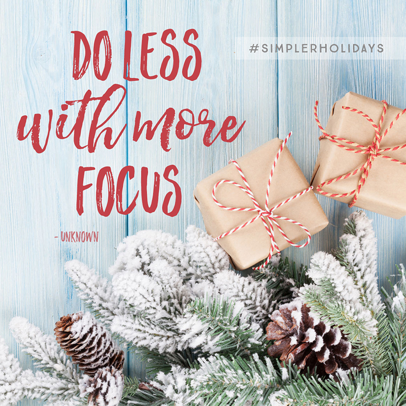 Want to enjoy a holiday season of LESS overwhelm, MORE stillness and MORE time with those you love most? Join us for 12 Days to a Simpler Holiday Season! 13h