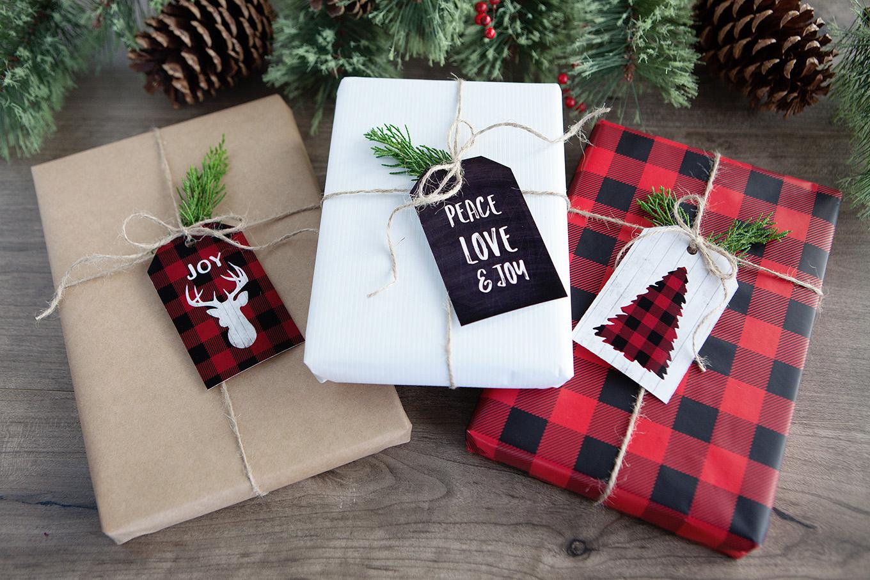 Buffalo Check Gift TagsWEB