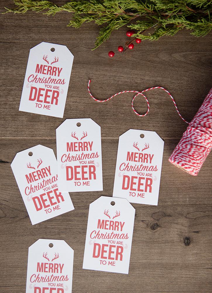 Free Deer to Me Printable Gift Tags