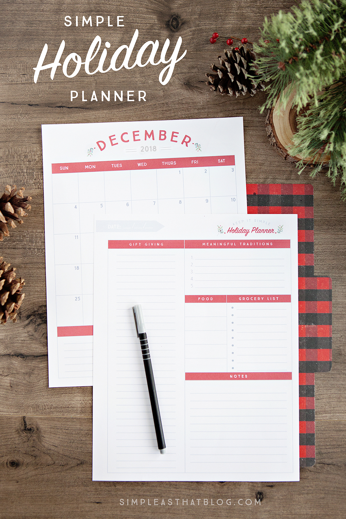 Planning early for the holidays is my secret to a calmer December. Whether it's gift giving, meal planning, or making time for your most meaningful traditions...  Creating the holiday season you really want starts with planning now using this Free Printable Holiday Planner.