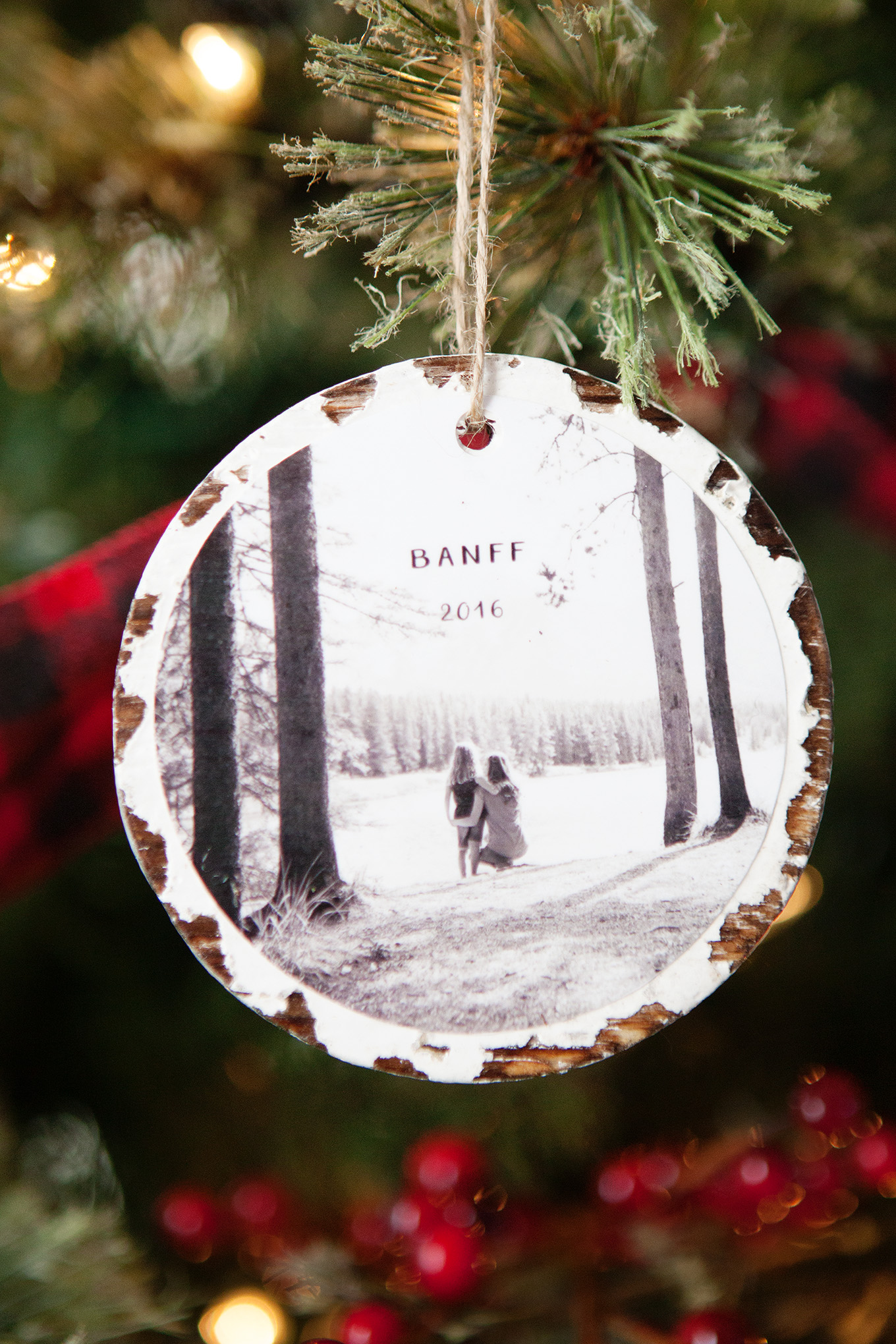 10 minute photo keepsake ornaments for Photo christmas decorations