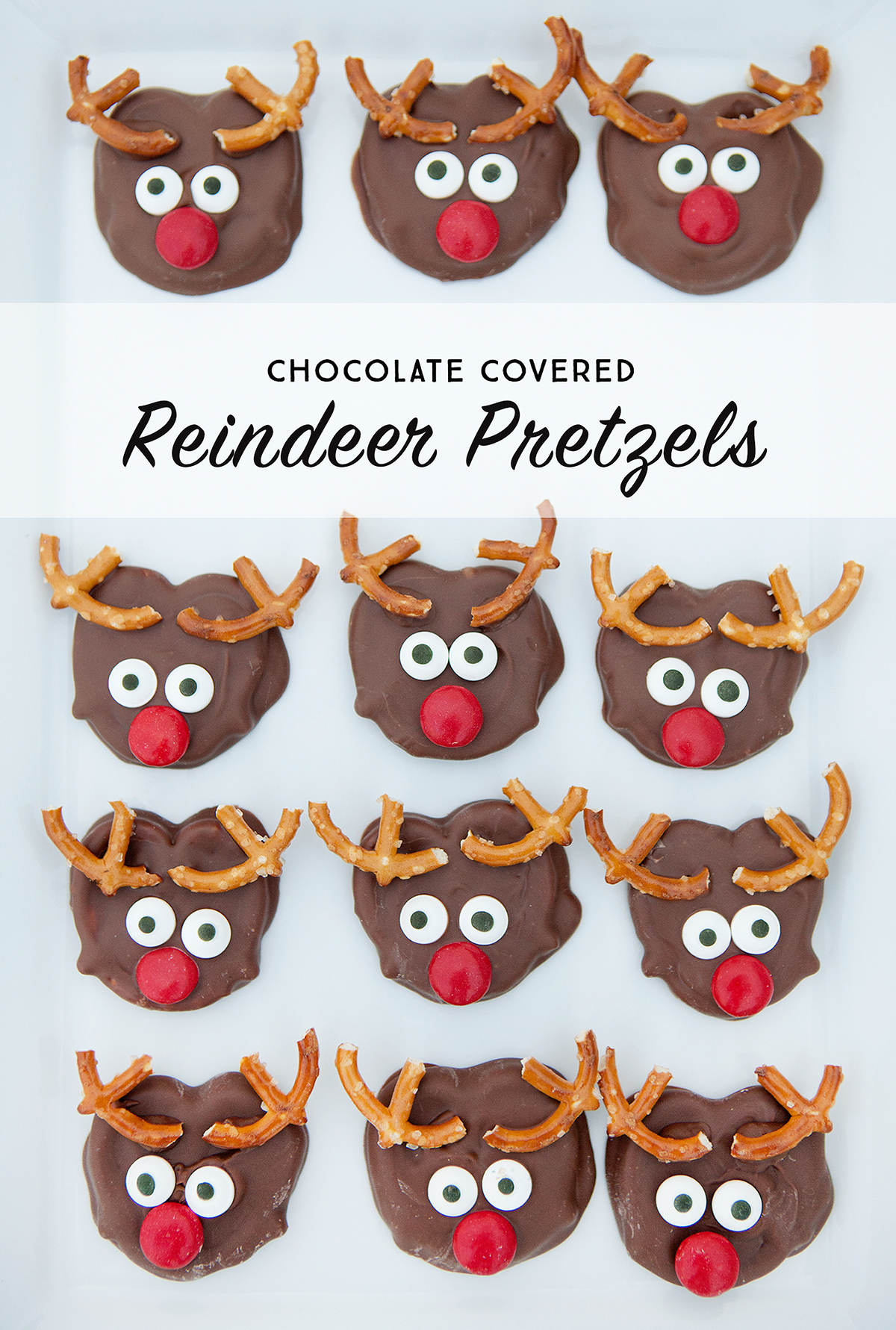 chocolate covered reindeer pretzels