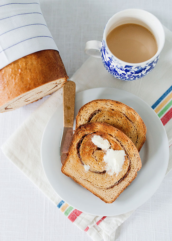 whole wheat cinnamon swirl bread recipe
