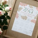 "Hand-lettered ""Collect moments – not things"" printable 2017 calendar"