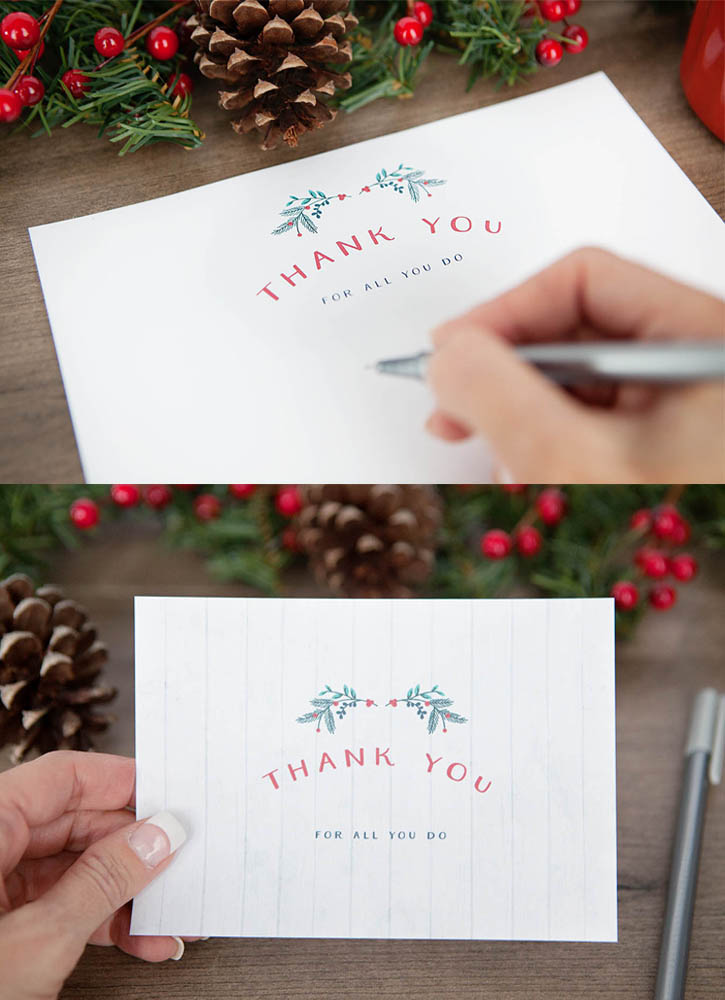 Free Holiday Thank You Stationary Set