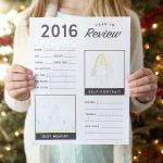 2016 Year in Review Printable For Kids