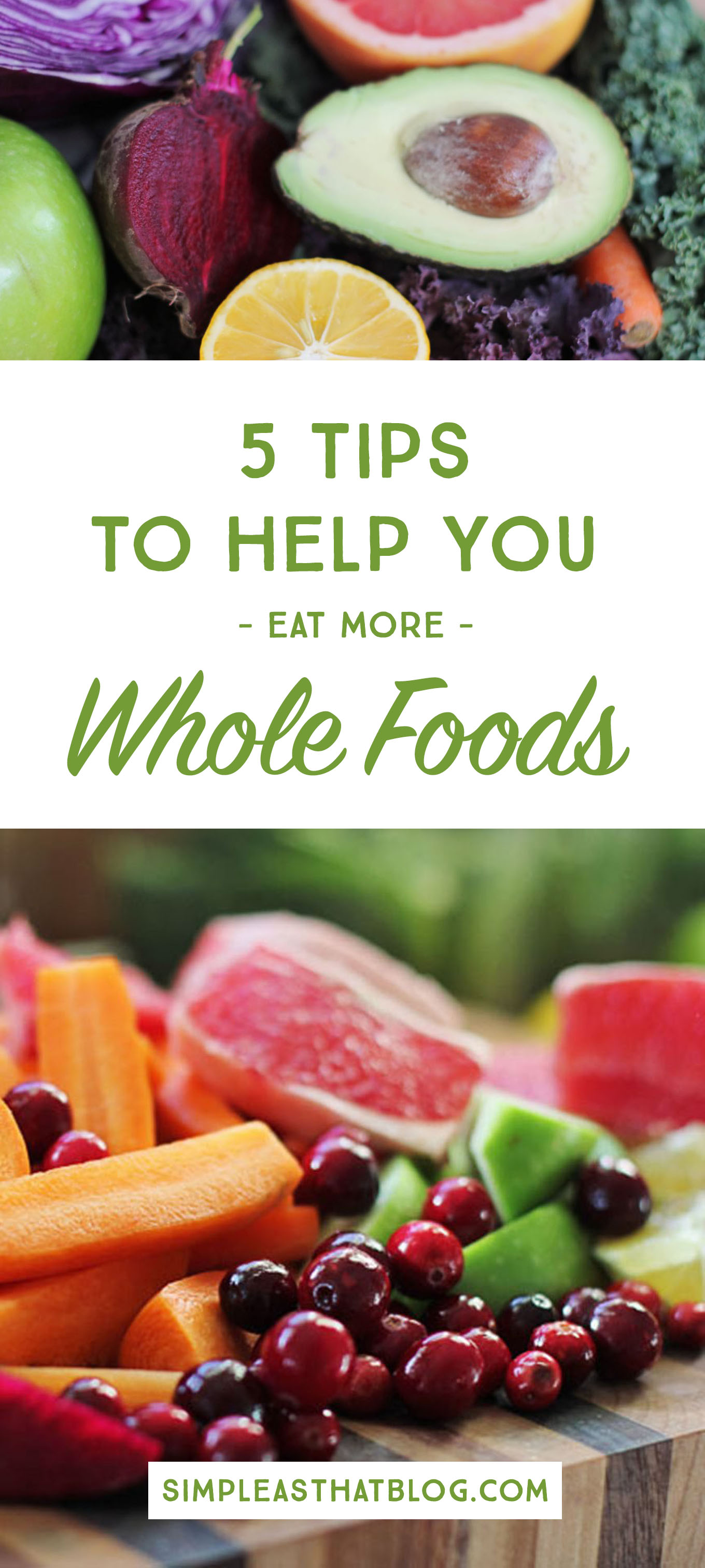 """One google search for """"healthy eating"""" can leave your head spinning with all kinds of information. We're breaking down they what, why, where and how of eating healthier and the benefits of incorporating more whole foods into your families diet."""