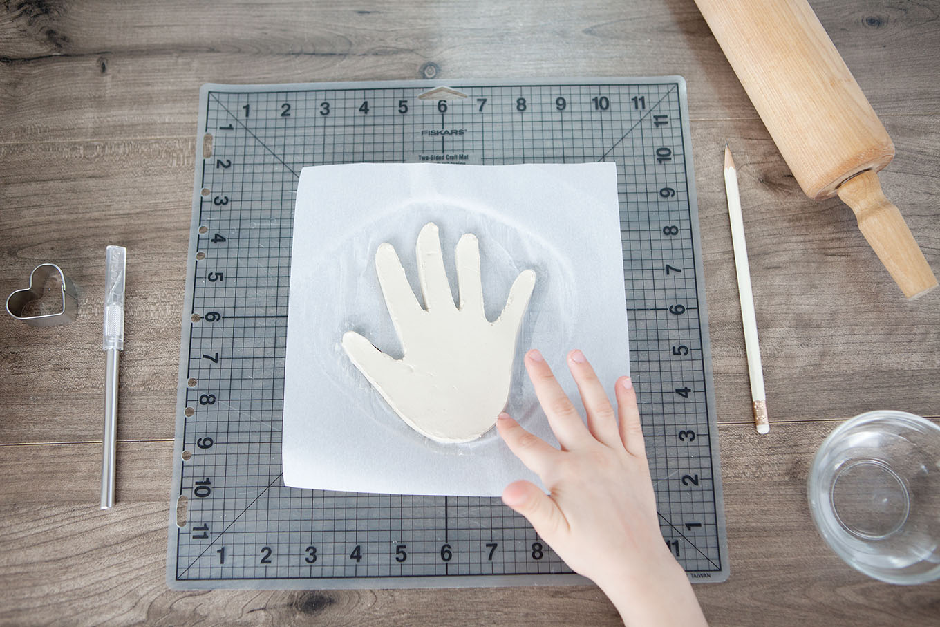 Child's Handprint Jewelry Dish made of out clay – a darling keepsake gift!
