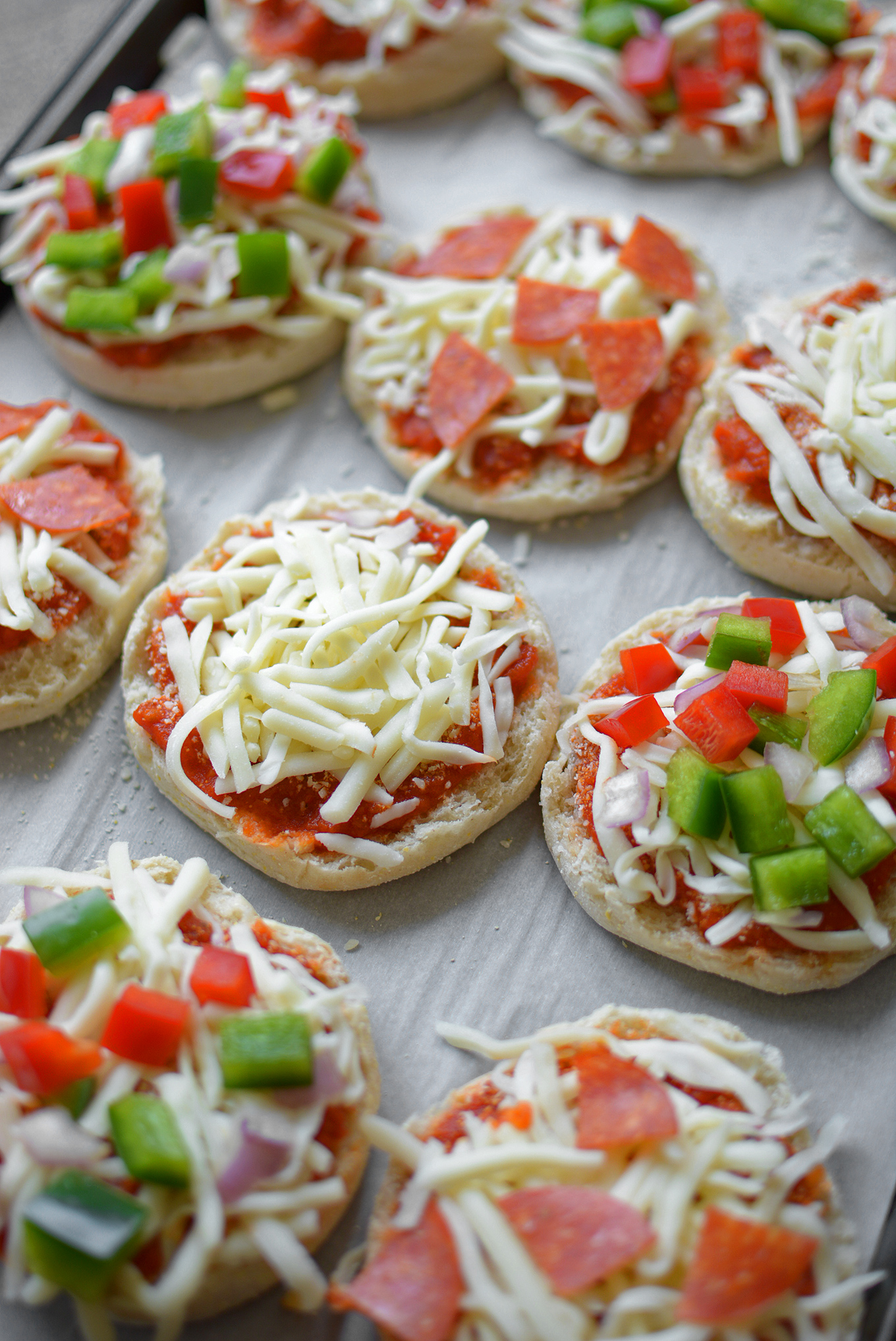 Freezing English Muffin Mini Pizzas