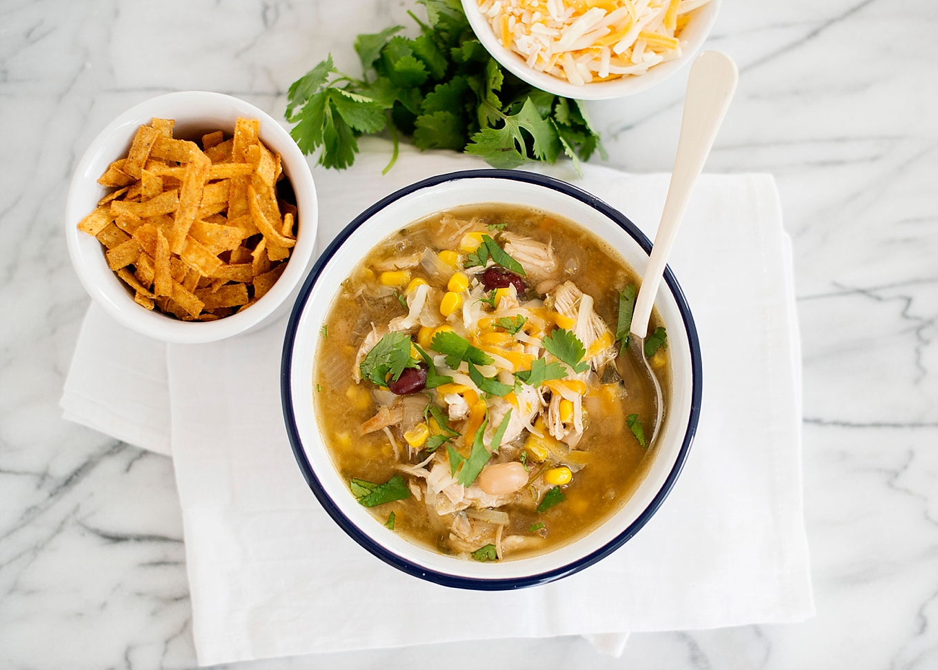 This Green Chicken Chili a go-to soup recipe. Throw everything in your Instant Pot and you have a delicious, healthy dinner on the table in 30 minutes.