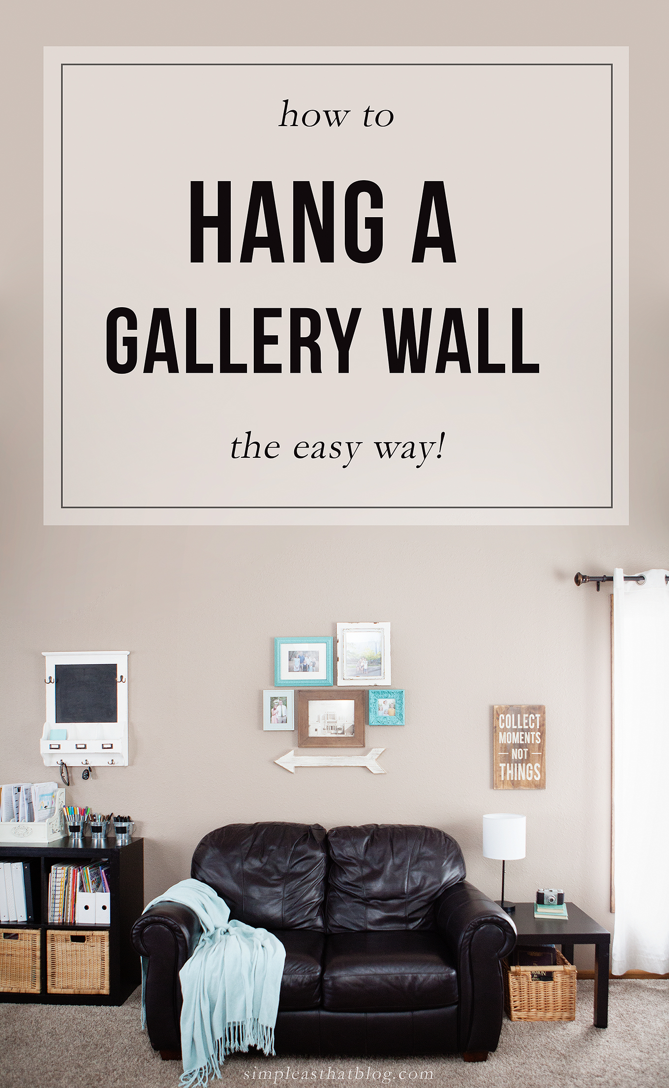 Have you always wanted to create a beautiful gallery wall display but didn't quite know where to start? Here is the secret to hanging a photo gallery wall the easy way!