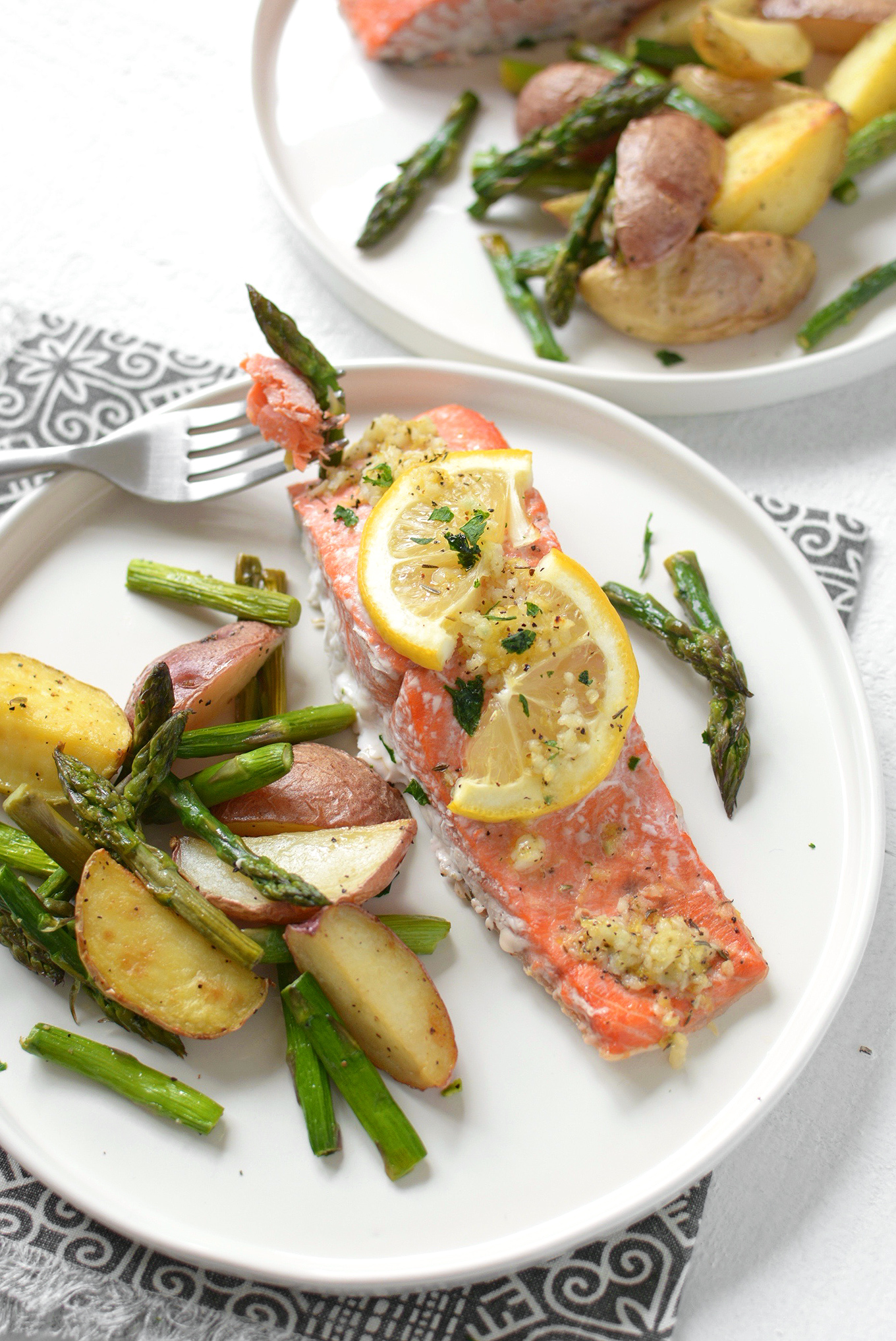 Sheet Pan Lemon Pepper Salmon and Vegetables