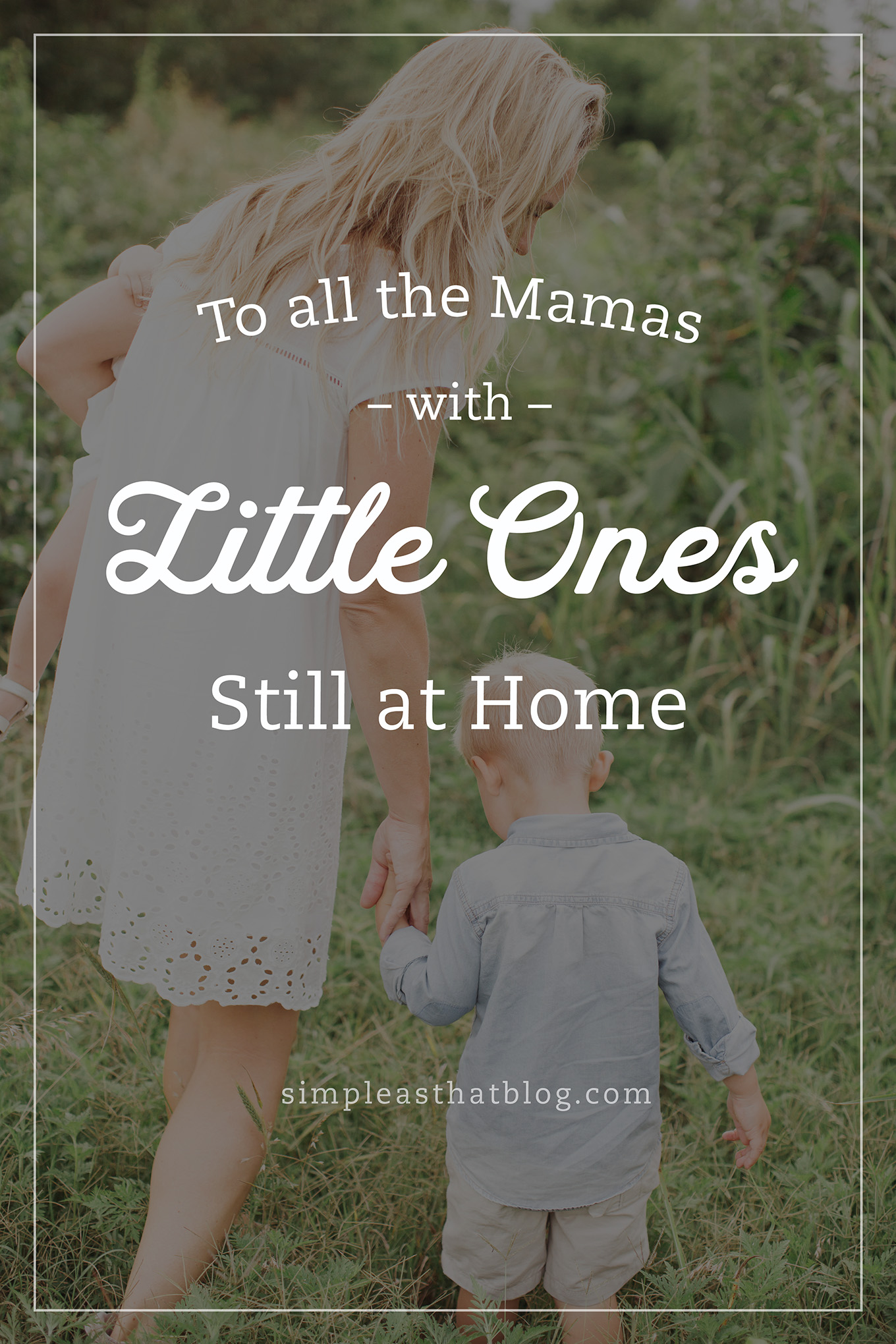 To all the Mamas with little ones still at home – please please please do not compare your home, your schedule, your crazy with any of us mamas whose littlest one is in school.