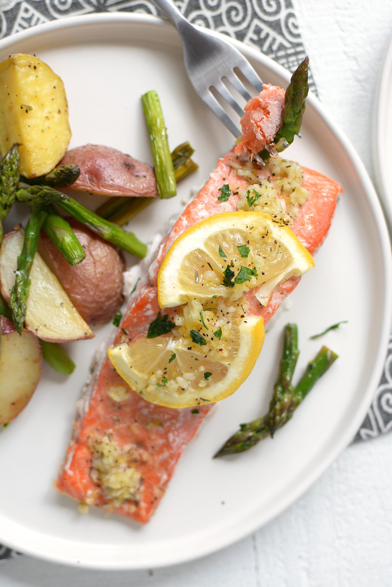 Sheet Pan Lemon Pepper Salmon and Vegetables